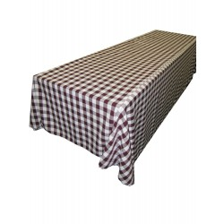 Tablecloth Checkered Rectangular 90x132 Inch Black By Broward Linens