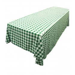 Tablecloth Checkered Rectangular 90x132 Inch Hot Pink By Broward Linens