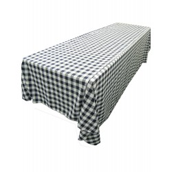 Tablecloth Checkered Rectangular 90x132 Inch Pink By Broward Linens
