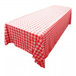 Tablecloth Checkered Rectangular 90x132 Inch Navy Blue By Broward Linens