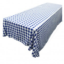 Tablecloth Checkered Rectangular 90x132 Inch Red By Broward Linens