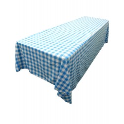 Tablecloth Checkered Rectangular 90x132 Inch Royal Blue By Broward Linens