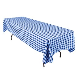 Tablecloth Checkered Rectangular 60x144 Inch Red By Broward Linens