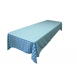 Tablecloth Checkered Rectangular 60x144 Inch Royal Blue By Broward Linens