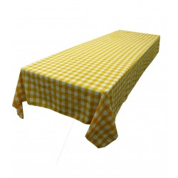 Tablecloth Checkered Rectangular 60x144 Inch Turquoise By Broward Linens