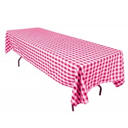 Tablecloth Checkered Rectangular 60x120 Inch Burgundy By Broward Linens