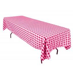 Tablecloth Checkered Rectangular 60x90 Inch Burgundy By Broward Linens