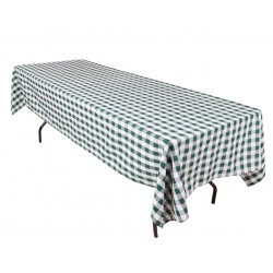 Tablecloth Checkered Rectangular 60x90 Inch Hot Pink By Broward Linens