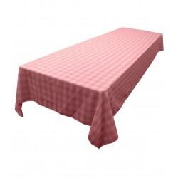 Tablecloth Checkered Rectangular 60x90 Inch Hunter Green By Broward Linens