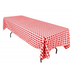 Tablecloth Checkered Rectangular 60x90 Inch Navy Blue By Broward Linens
