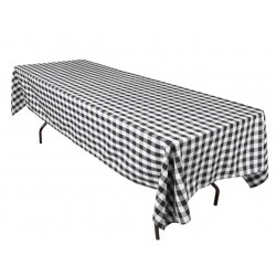 Tablecloth Checkered Rectangular 45x54 Inch Apple Green By Broward Linens