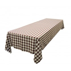Tablecloth Checkered Rectangular 45x54 Inch Burgundy By Broward Linens