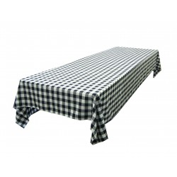 Tablecloth Checkered Rectangular 45x54 Inch Pink By Broward Linens