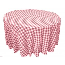 Tablecloth Checkered Round 90 Inch Hunter Green By Broward Linens