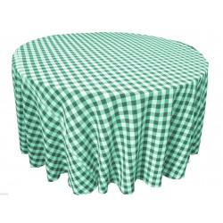 Tablecloth Checkered Round 72 Inch Royal Blue By Broward Linens
