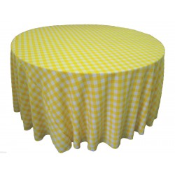 Tablecloth Checkered Round 72 Inch Turquoise By Broward Linens