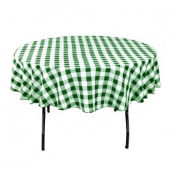 Tablecloth Checkered Round 58 Inch Hot Pink By Broward Linens