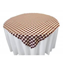 Tablecloth Checkered Overlay Square 90 Inch Black By Broward Linens
