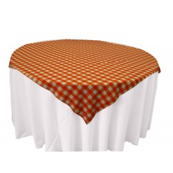 Tablecloth Checkered Overlay Square 90 Inch Navy Blue By Broward Linens