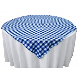 Tablecloth Checkered Overlay Square 90 Inch Red By Broward Linens