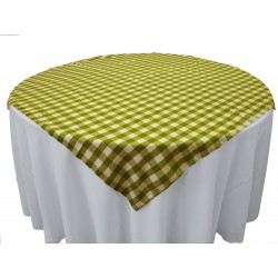 Tablecloth Checkered Overlay Square 72 Inch Turquoise By Broward Linens