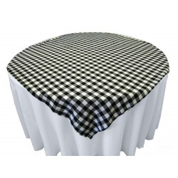 Tablecloth Checkered Overlay Square 58 Inch Apple Green By Broward Linens