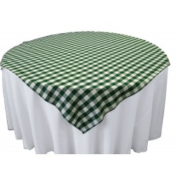 Tablecloth Checkered Overlay Square 58 Inch Hot Pink By Broward Linens