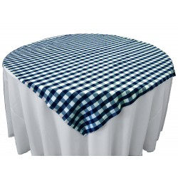Tablecloth Checkered Overlay Square 58 Inch Hunter Green By Broward Linens