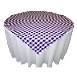Tablecloth Checkered Overlay Square 58 Inch Pink By Broward Linens