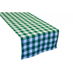 "Tablecloth Runner Checkered 12""x72"" Hot Pink By Broward Linens"