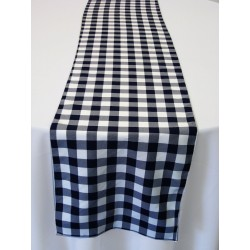 "Tablecloth Runner Checkered 12""x72"" Hunter Green By Broward Linens"
