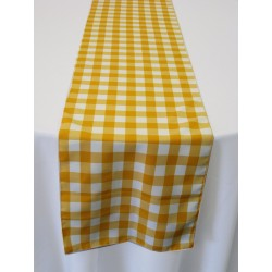 "Tablecloth Runner Checkered 12""x72"" Turquoise By Broward Linens"