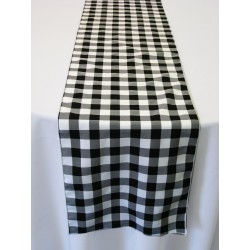 "Tablecloth Runner Checkered 12""x108"" Apple Green By Broward Linens"