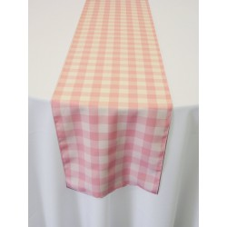 "Tablecloth Runner Checkered 12""x108"" Orange By Broward Linens"
