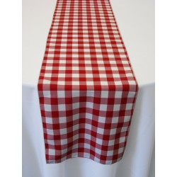 "Tablecloth Runner Checkered 12""x108"" Pink By Broward Linens"