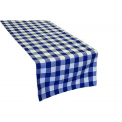 """Tablecloth Runner Checkered 13""""x108"""" Red By Broward Linens"""