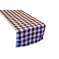 "Tablecloth Runner Checkered 14""x108"" Black By Broward Linens"