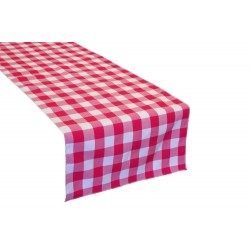 "Tablecloth Runner Checkered 14""x108"" Burgundy By Broward Linens"