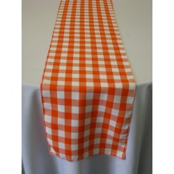 "Tablecloth Runner Checkered 14""x108"" Navy Blue By Broward Linens"