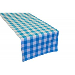"Tablecloth Runner Checkered 14""x108"" Royal Blue By Broward Linens"