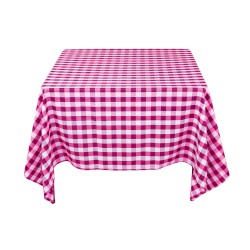 Tablecloth Square Checkered 90 Inch Burgundy By Broward Linens