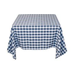 Tablecloth Square Checkered 90 Inch Pink By Broward Linens