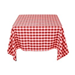 Tablecloth Square Checkered 90 Inch Navy Blue By Broward Linens