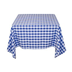 Tablecloth Square Checkered 90 Inch Red By Broward Linens
