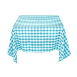 Tablecloth Square Checkered 90 Inch Royal Blue By Broward Linens