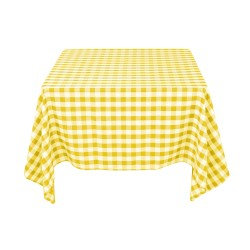 Tablecloth Square Checkered 90 Inch Turquoise By Broward Linens