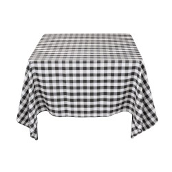 Tablecloth Square Checkered 72 Inch Apple Green By Broward Linens