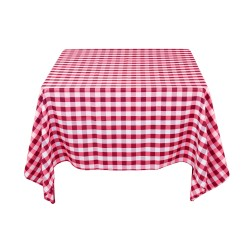 Tablecloth Square Checkered 72 Inch Black By Broward Linens