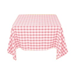 Tablecloth Square Checkered 72 Inch Pink By Broward Linens