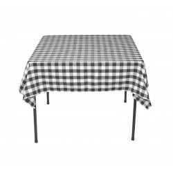 Tablecloth Square Checkered 45 Inch Apple Green By Broward Linens